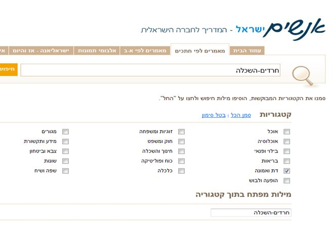 people advancede searched 1 haredim