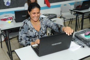 teacher and notebook 1