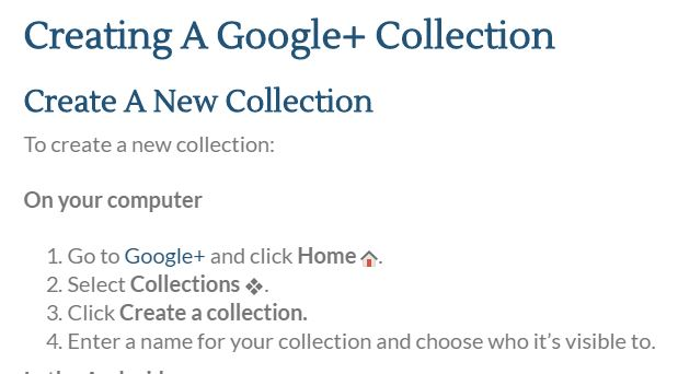 creating google collection