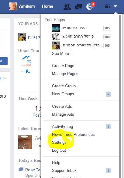 facebook language setting 1